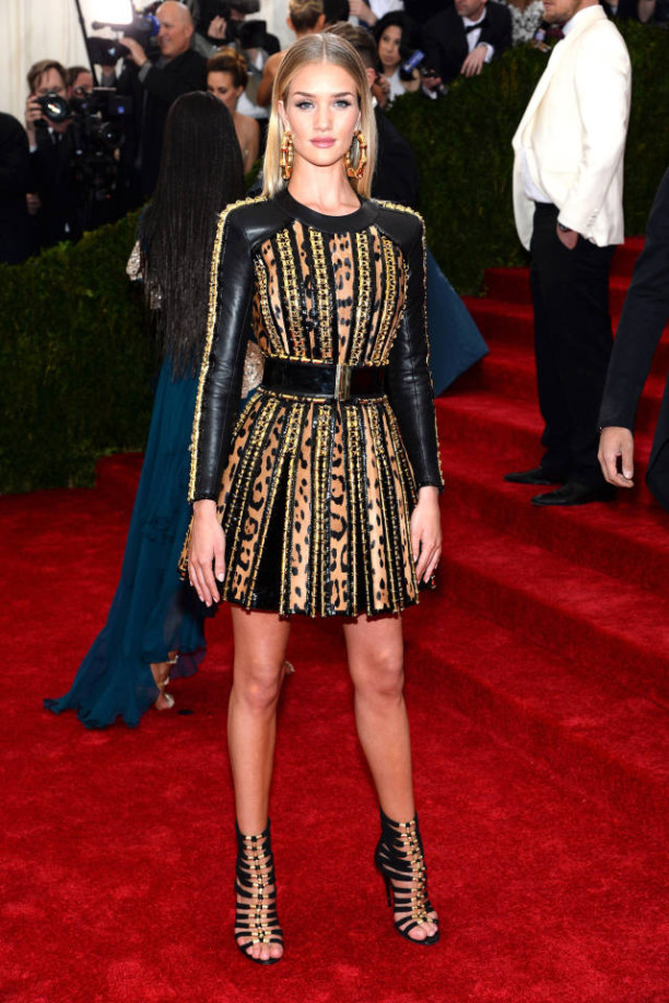 Rosie Huntington-Whiteley in Balmain at The Met Gala 2014