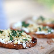 Grilled Corn Crostini